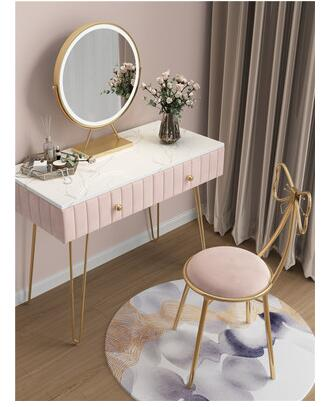 Скандинавский туалетный столик для спальни современный простой чистый красный ins стильный мраморный туалетный столик из массива дерева ма...