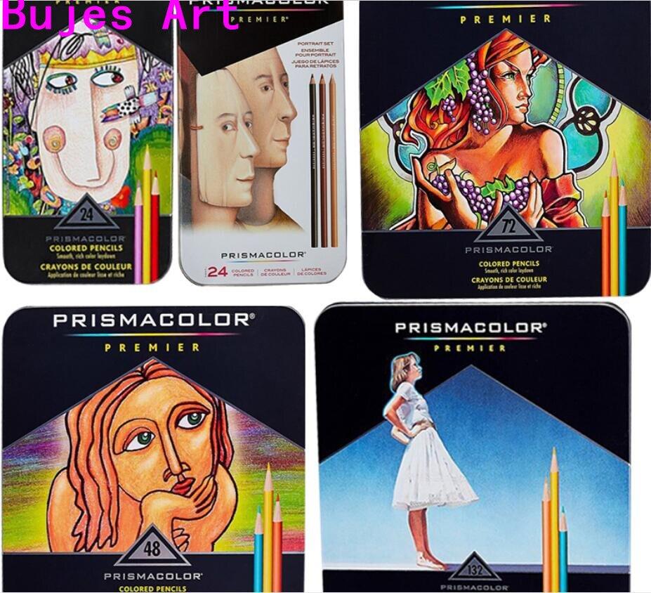 Eua 24/36/48/60/72/120/132/150/160 cor prismacolor premier lapis cor lápis grande núcleo prismacolor artista cor lápis