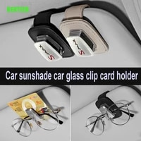 genuine leather car sunshade glass clip holder sticker for ford smax s max
