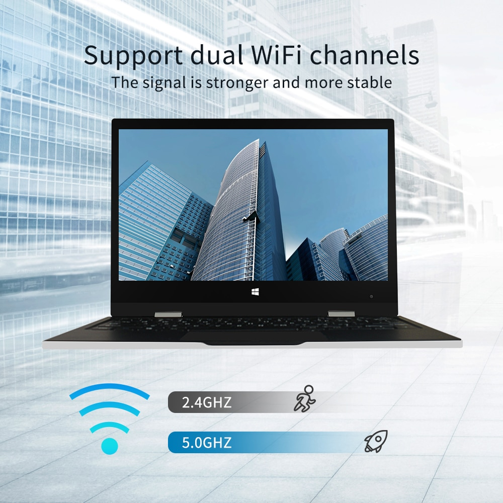 Jumper EZbook X1 Notebook 6GB 128GB 11.6 Inch 1920*1080 FHD IPS Laptop Touch Screen IntelCeleronQuadCore Laptops Windows 10