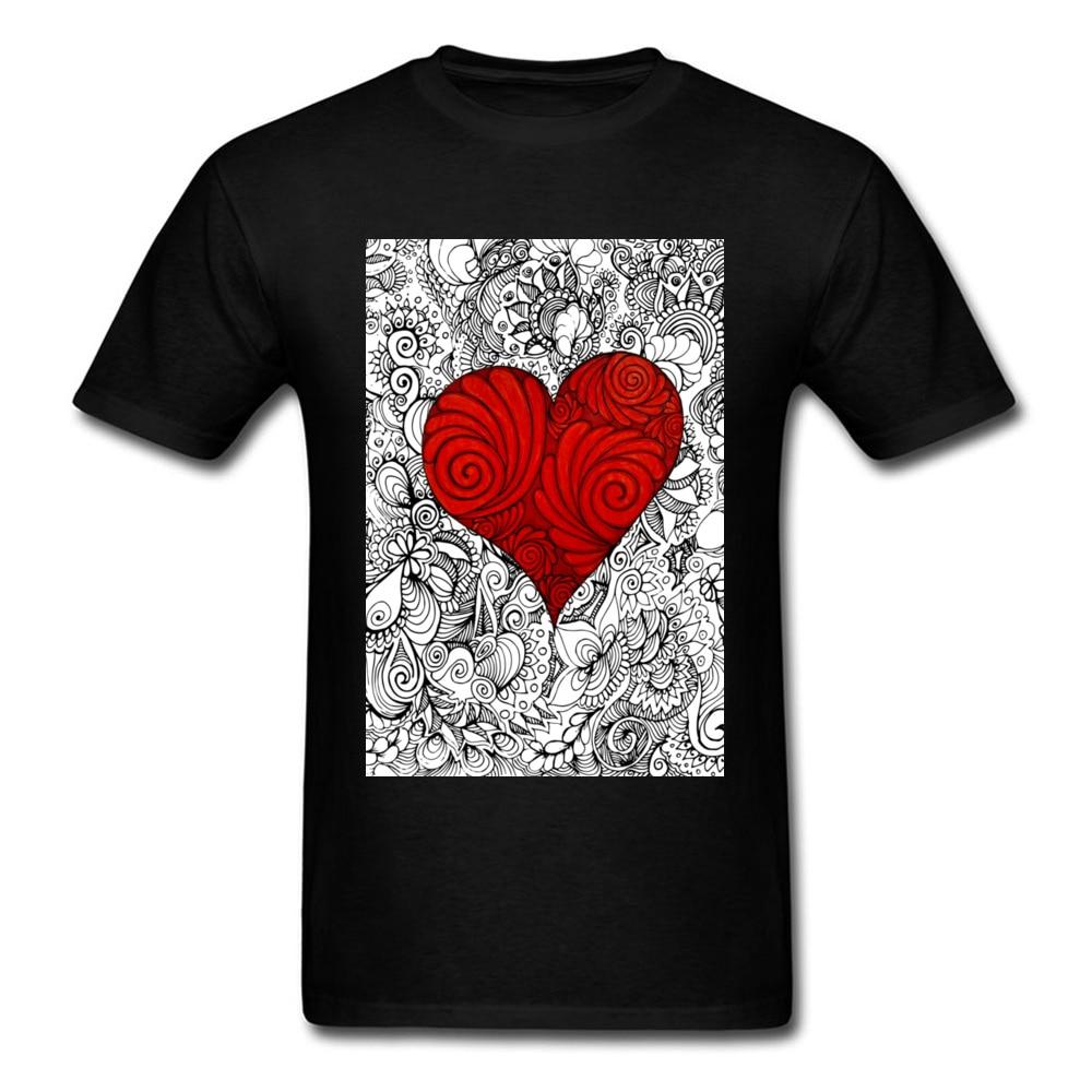 Zen-camiseta con estampado de el Día de San Valentín para hombre, Camisa...