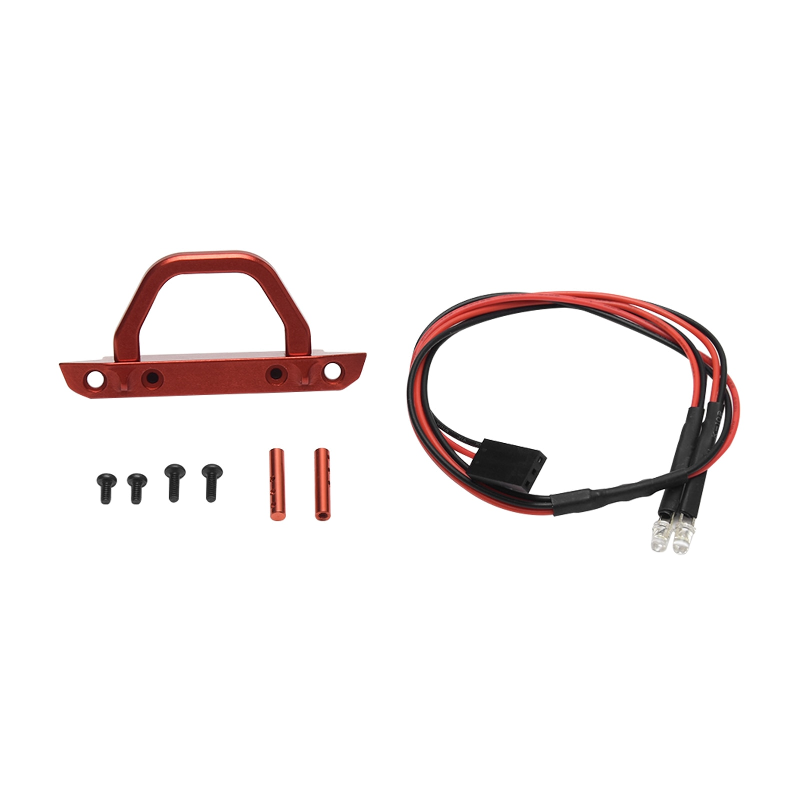 1:24 Easy Install With U Rings Aluminum Front Bumper RC Car Practical Home Replacement Parts Kids To