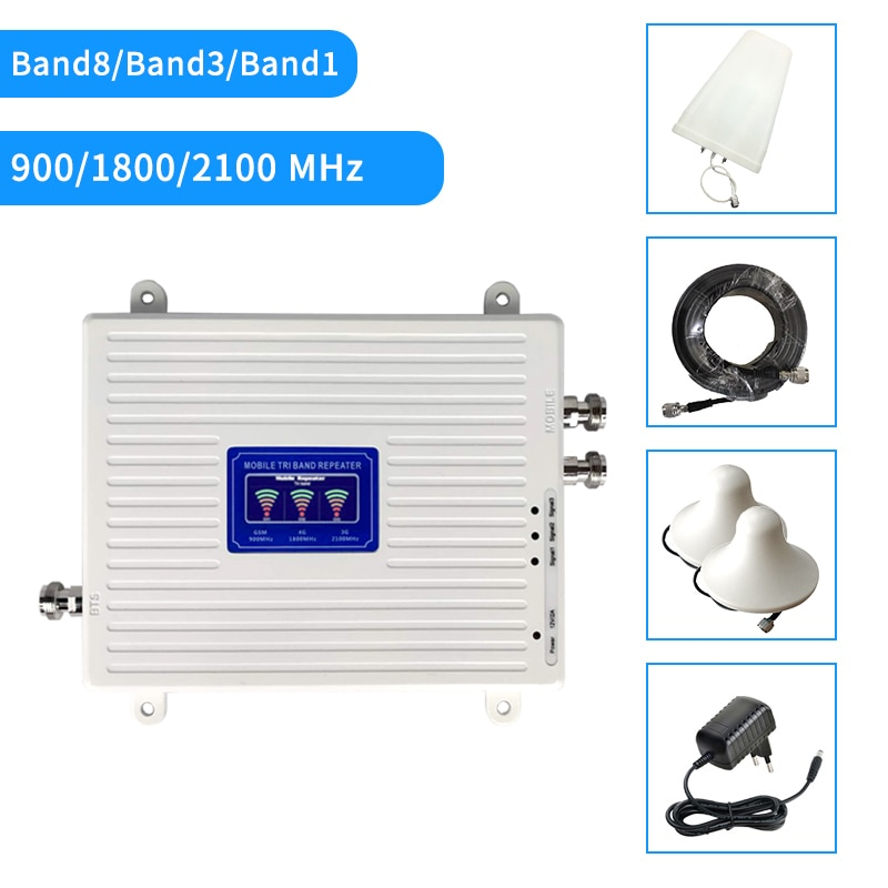 2G 3G 4G GSM LTE Repeater Cellular Signal Amplifier 4G Cellular Amplifier GSM 900 1800 2100 Mobile Signal Booster Repeater