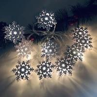 1 x christmas string lights plastic led snowman string starry light santa snowflake lamp xmas decor in stock