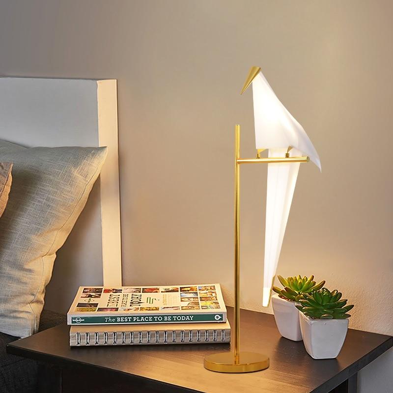 Lámparas LED modernas de mesita de noche para dormitorio, decoración artística para...