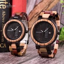 BOBO oiseau luxe bois hommes montre relogio masculino concepteur Auto Date couleurs montres pour hommes à la main Quartz montre-bracelet C-P14- 1