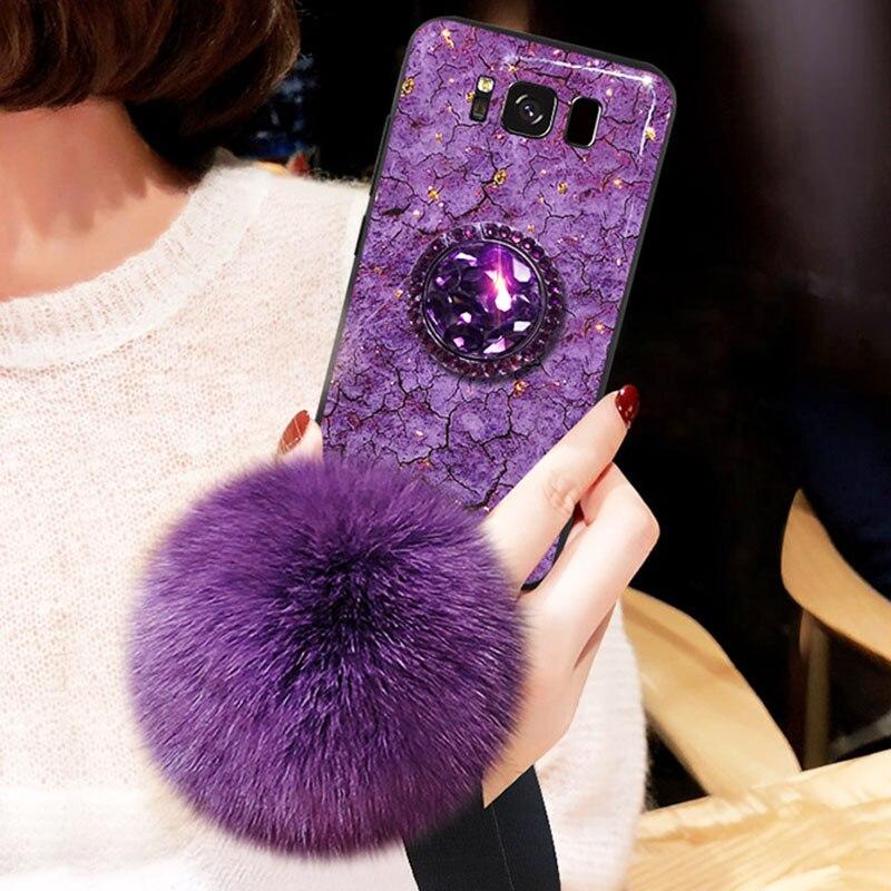Funda de teléfono de mármol de lujo para Samsung Galaxy Note 10 9 8 A50 A70 M30 S10 5G S9 S8 Plus S10E, funda trasera con lentejuelas brillantes
