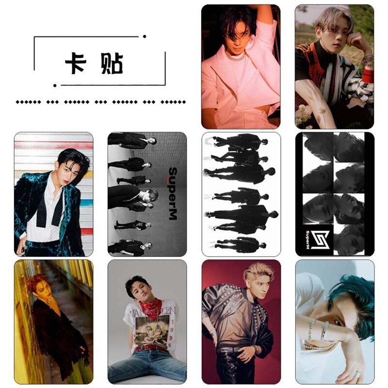 Nouvelle mode 10 pièce/ensemble KPOP SuperM Album auto-fait papier Photo autocollant affiche HD Photocard Fans cadeaux