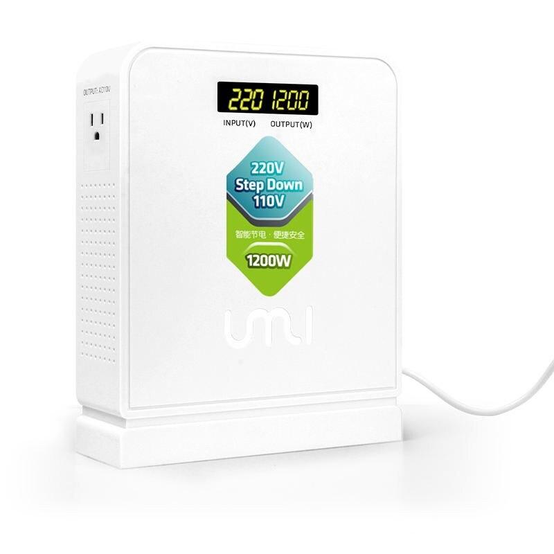 UMI1200w السفر 220 فولت إلى 110 فولت تنحى الجهد العالي محول الطاقة الكهربائية محول للأجهزة الأمريكية باستخدام في Aisa