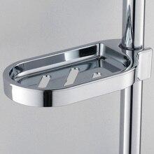 จัดส่งฟรีสะดวกคลิป-บนถาดสบู่จานสบู่จานอาบน้ำปรับสไลด์สบู่จานSmoothห้องน้ำSILVER