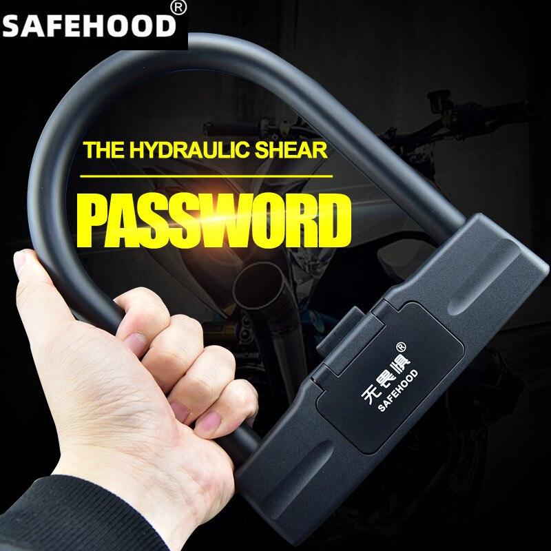 شحن مجاني دراجة U خمسة أرقام قفل بكلمة مرور قفل دراجة مكافحة سرقة تأمين lockwater دراجة نارية إنذار قفل الملحقات