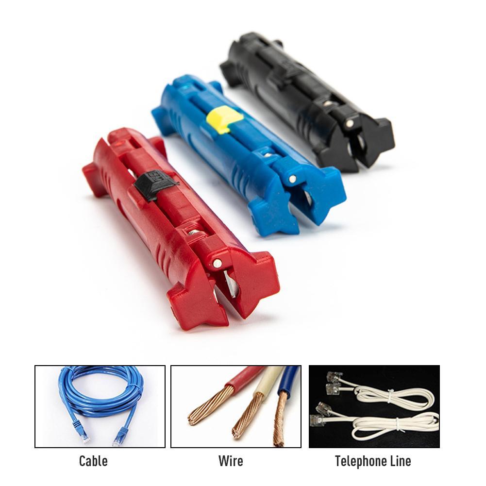 Multi-función de alambre eléctrico Stripper pluma Cable de alambre cúter tipo pluma Rotary Coaxial cortador de máquina de desmontaje herramienta alicates