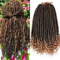 modern queen 20 inch goddess locs braids hair synthetic faux locs crochet braid hair pre looped crochet braids hair for women