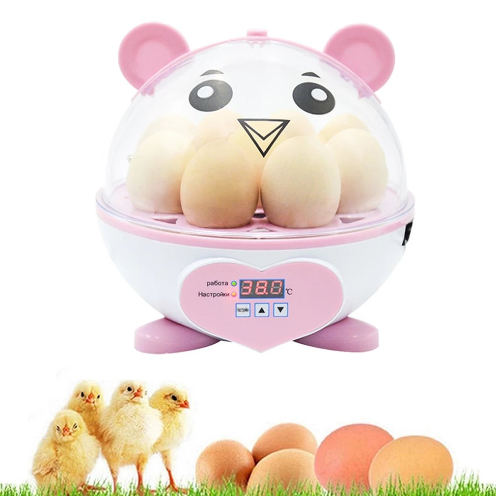 Мини-инкубатор для 9 яиц, инкубационный Брудер, ручная Поворотная куриная утка, перепелок, инкубатор для яиц, инкубатор для птицы, инкубатор