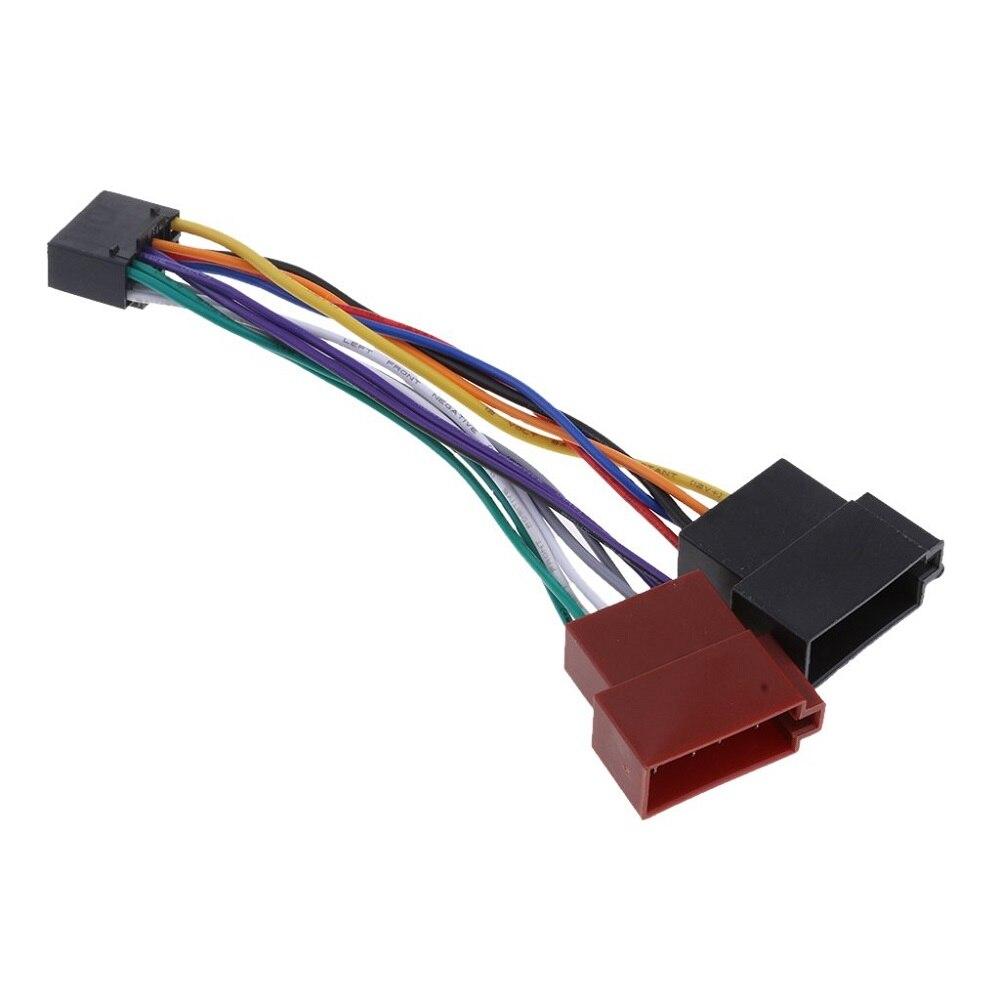 Kabelbaum Adapter Für Kenwood/JVC Auto Stereo Radio ISO Standard Stecker Adapter 16 Pin Stecker Kabel Auto Draht kabel Adapter