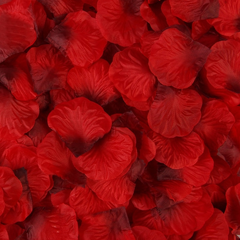 2021 New 2000 Pcs Artificial Rose Petals Wedding Petalas Colorful Silk Flower Accessories rose petals