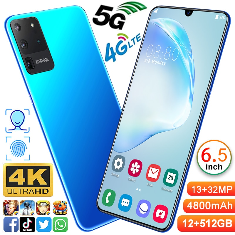 galay-s20-ultra-6-5-inch-smartphone-4800mah-unlock-global-version-4g-5g-android-10-0-16mp32mp-12gb512gb-celulares-smartphone