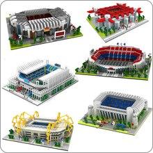 Football vieux trafic Camp Nou Bernabeu San Sir stade Real Madrid barcelone Club bricolage diamant construction petits blocs jouet sans boîte
