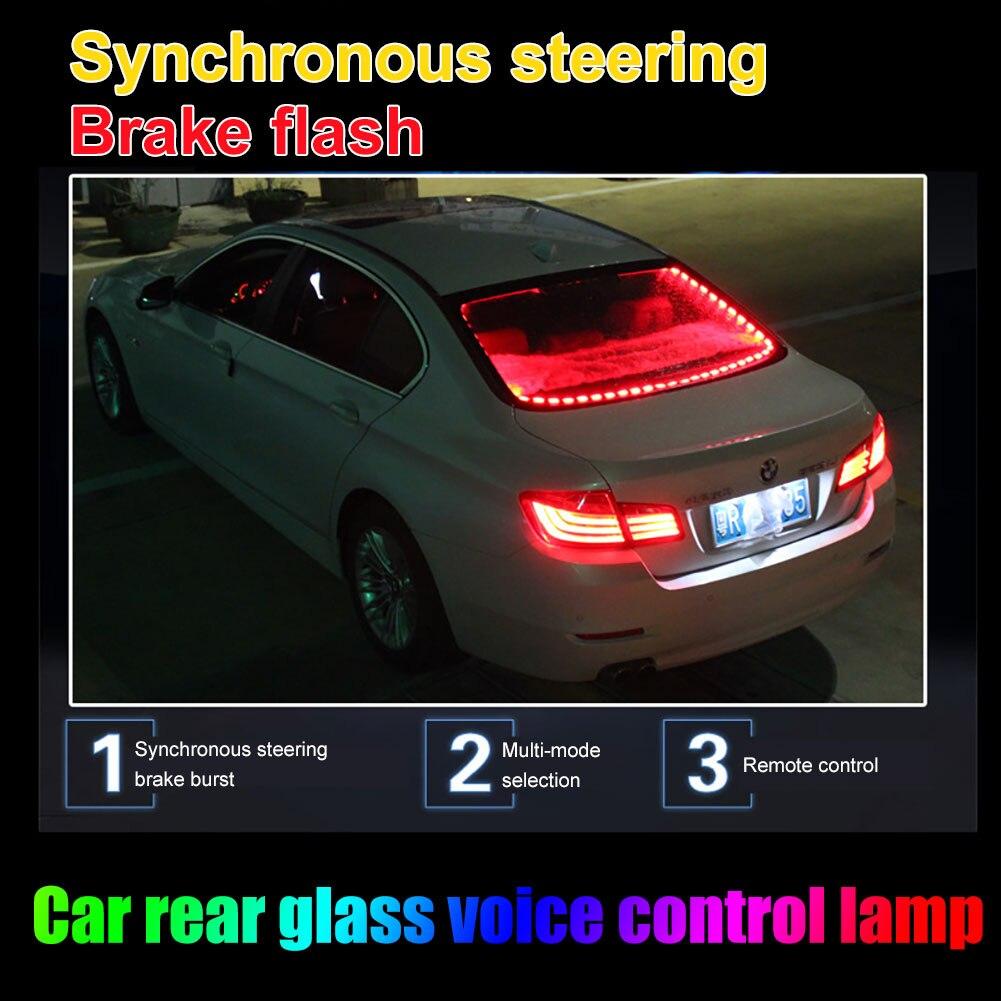 Автомобильный RGB Светодиодные ленты светильник дистанционного Управление автомобиля Подсветка салона светильник s Авто Атмосфера лампы Зв...