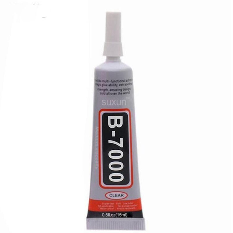 1 unidad B7000 15ml mejor pegamento multiusos resina epoxi adhesivo DIY artesanía vidrio pantalla táctil teléfono celular Super pegamento B7000 Gel de uñas