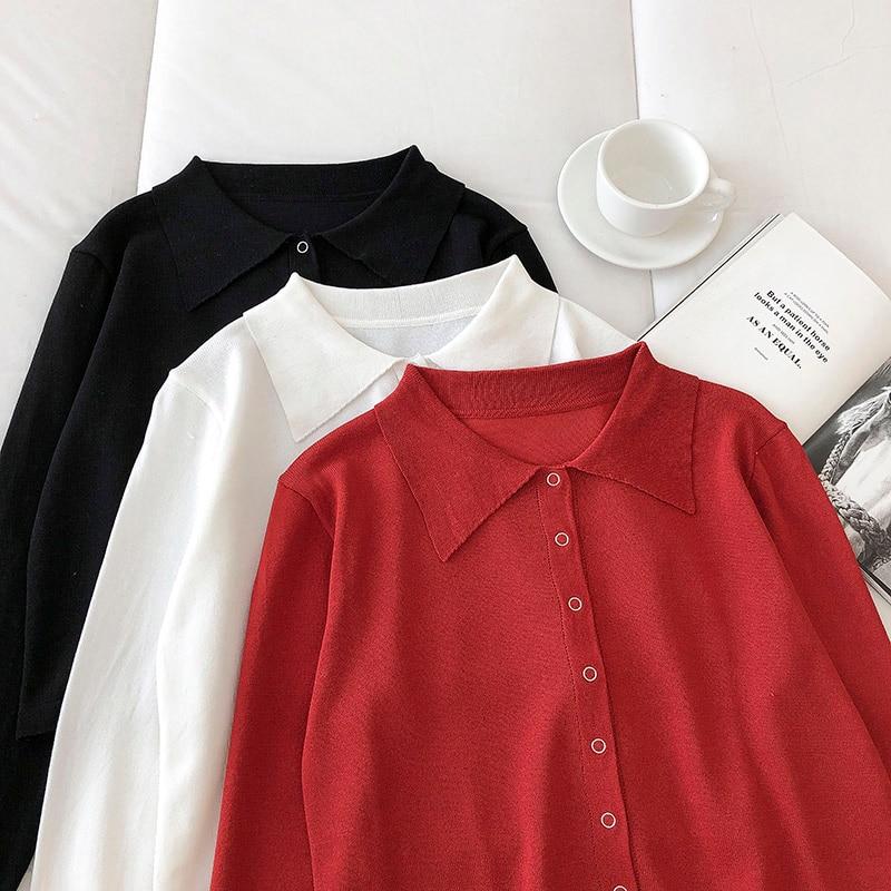 Новинка-2021-Ранняя-весна-женская-одежда-в-Корейском-стиле-простая-и-Повседневная-однобортная-стройнящая-универсальная-однотонная