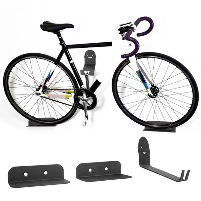 Metal Wall Hook Bicycle Storage Rack High-carbon Steel Can Bear 100kg Multifunctional Guitar Skateboard Wall Display Rack Hooks