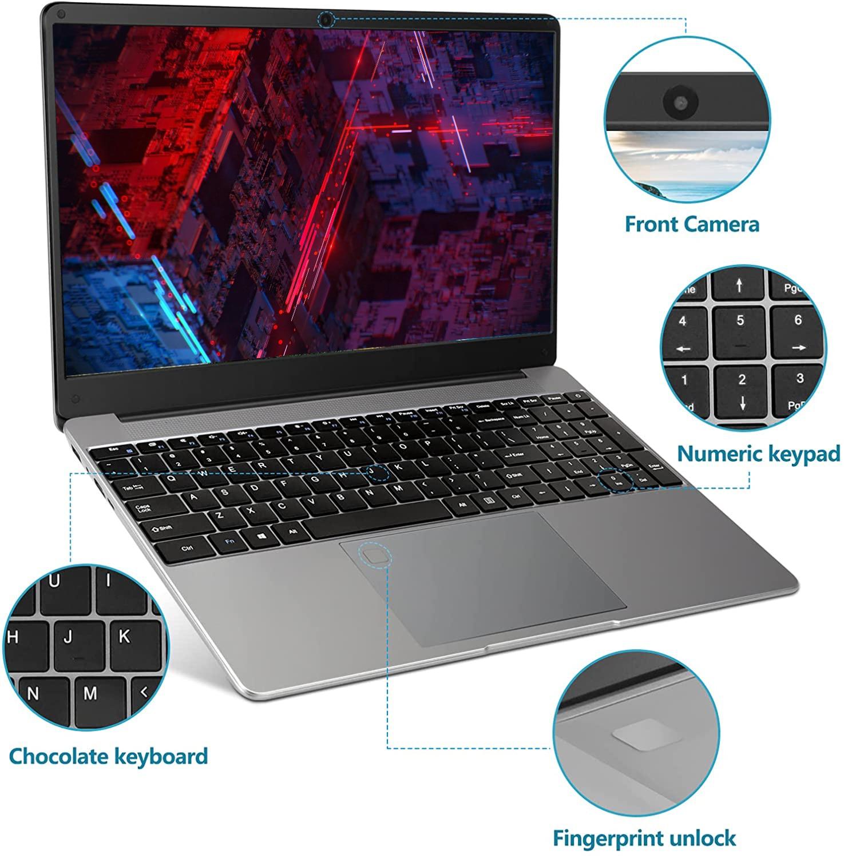 15.6 Inch RJ45 Port Laptop Netbook DDR4 16GB RAM  512GB 1TB 2TB Rom SSD Intel Core 6157U Windows 10 Pro Computer Gaming Laptop