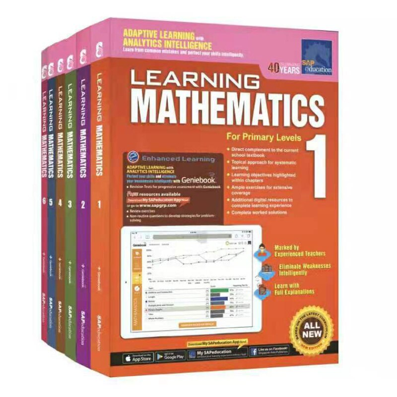 6 Books/Set Learning Mathematics Book Grade 1-6 Children Learn Math Books Singapore Primary School Mathematics Textbook недорого