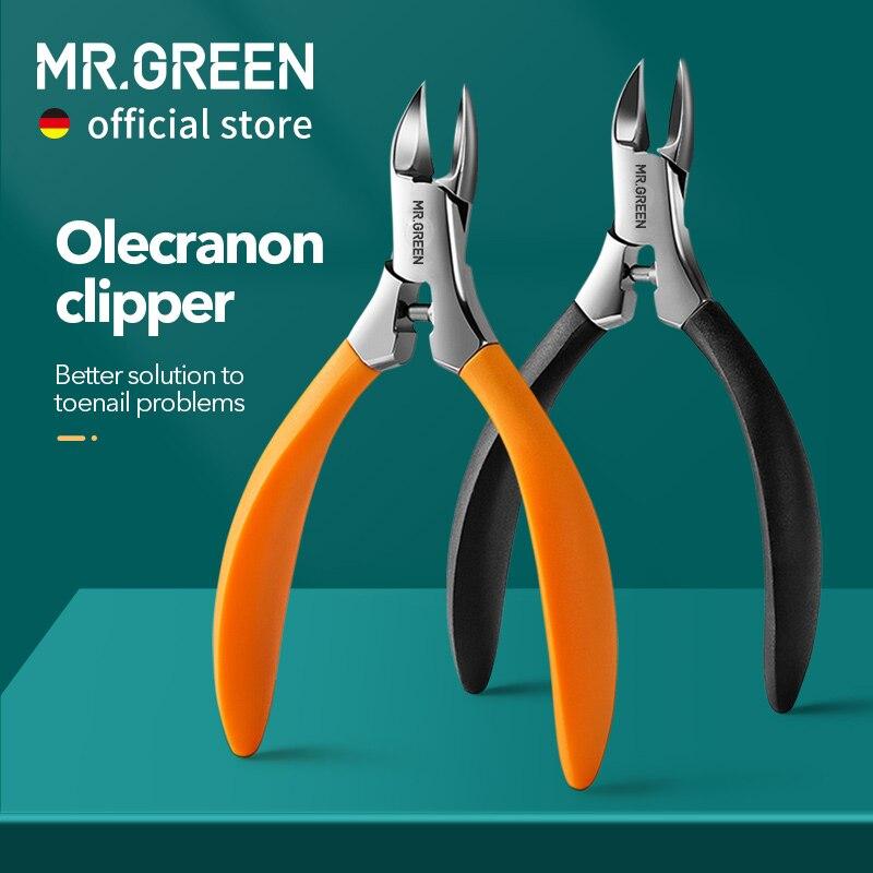 Cortador de Unhas Pedicure de Aço Dedo do pé Correção de Unhas Profundamente em Ranhuras de Unhas Verde Encravado Ferramentas Inoxidável Espesso Sr.