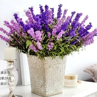 9 head wedding party artificial lavender fake garden plant flower home decor