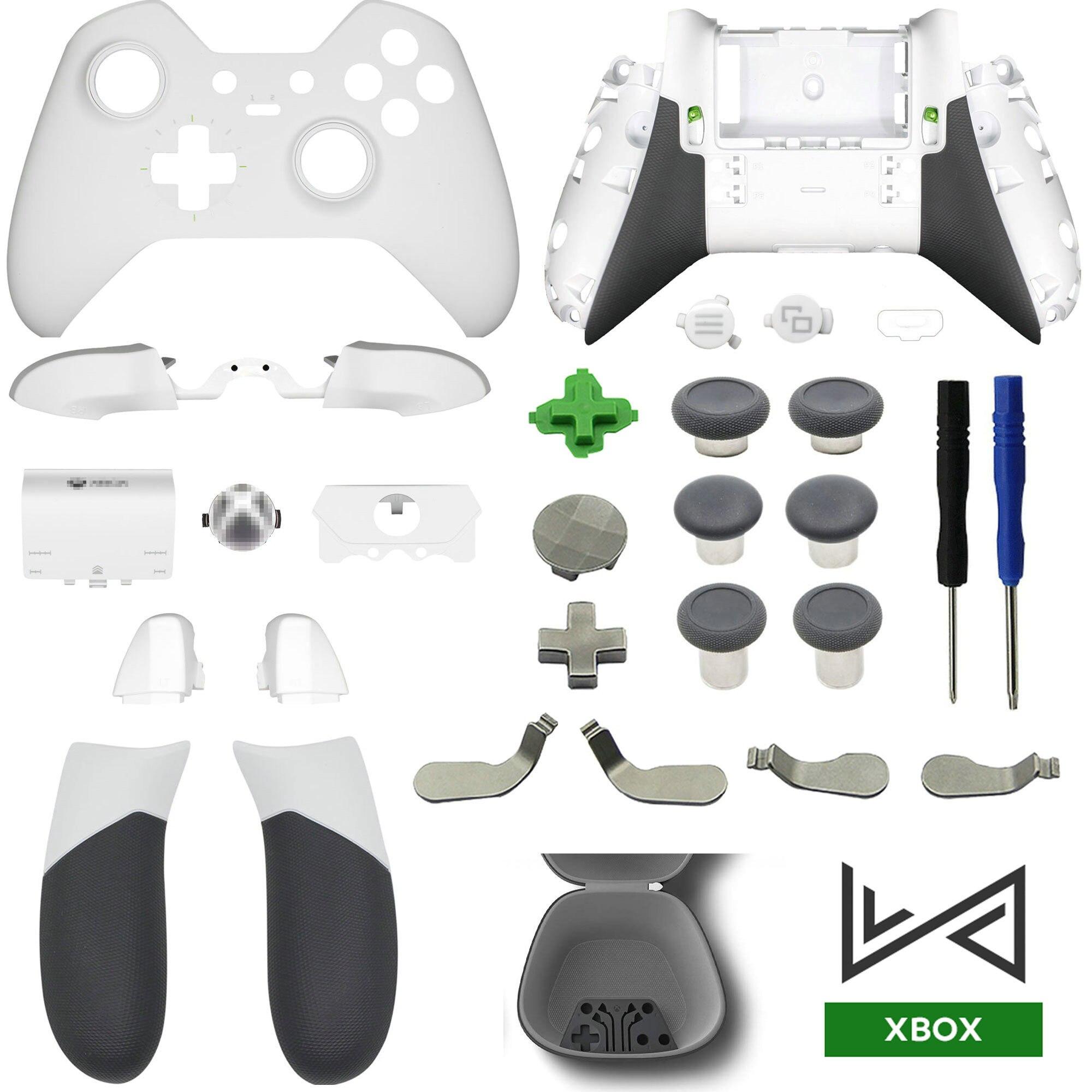 Reparatur Teile Für Xbox Eine Elite Controller Gehäuse Shell Front Fall Back Cover LB RB Stoßstange Griffe Tasten LT RT trigger