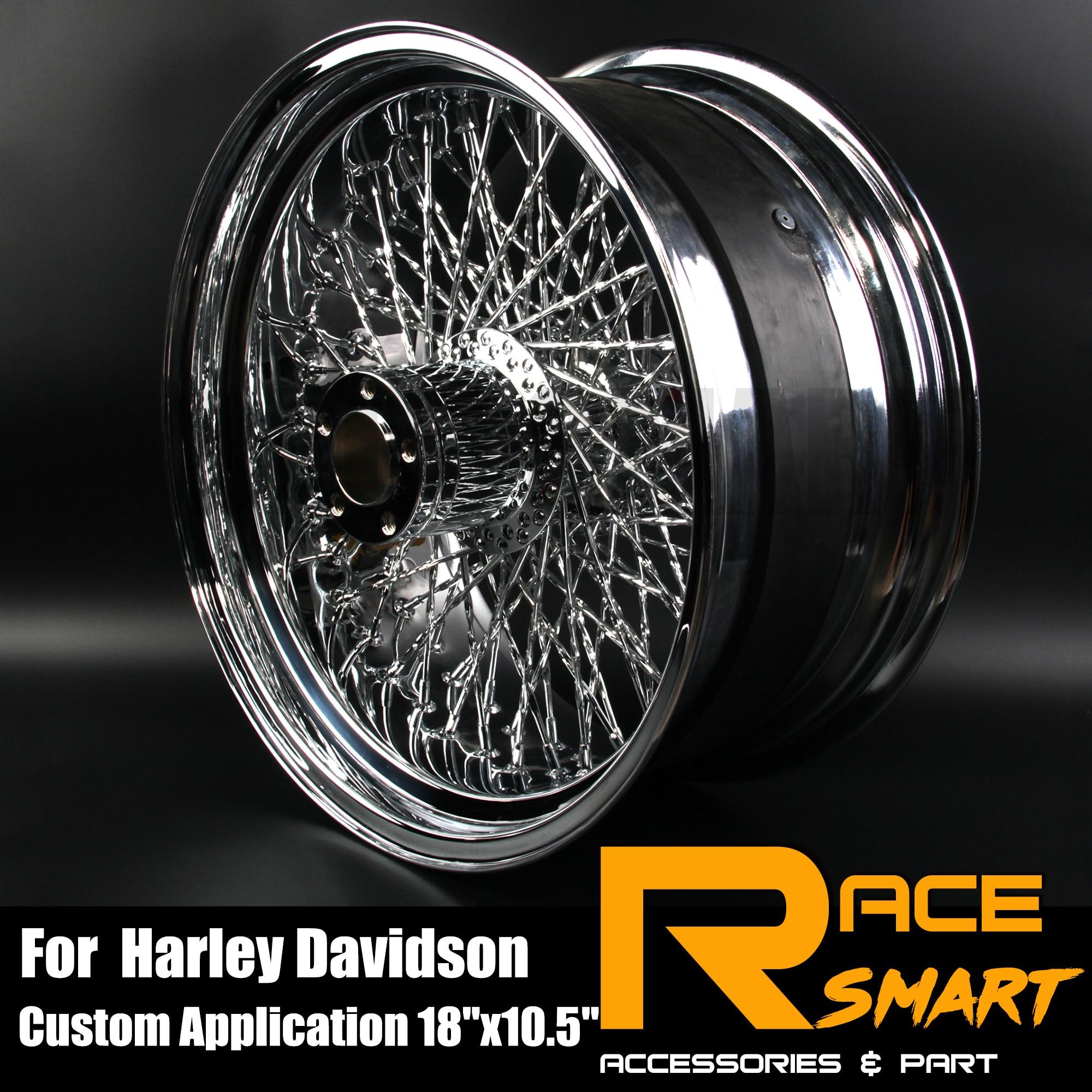 Para harley davidsion modificação da motocicleta chrome roda traseira jante jantes moto 80 raios 18 x x 10.5