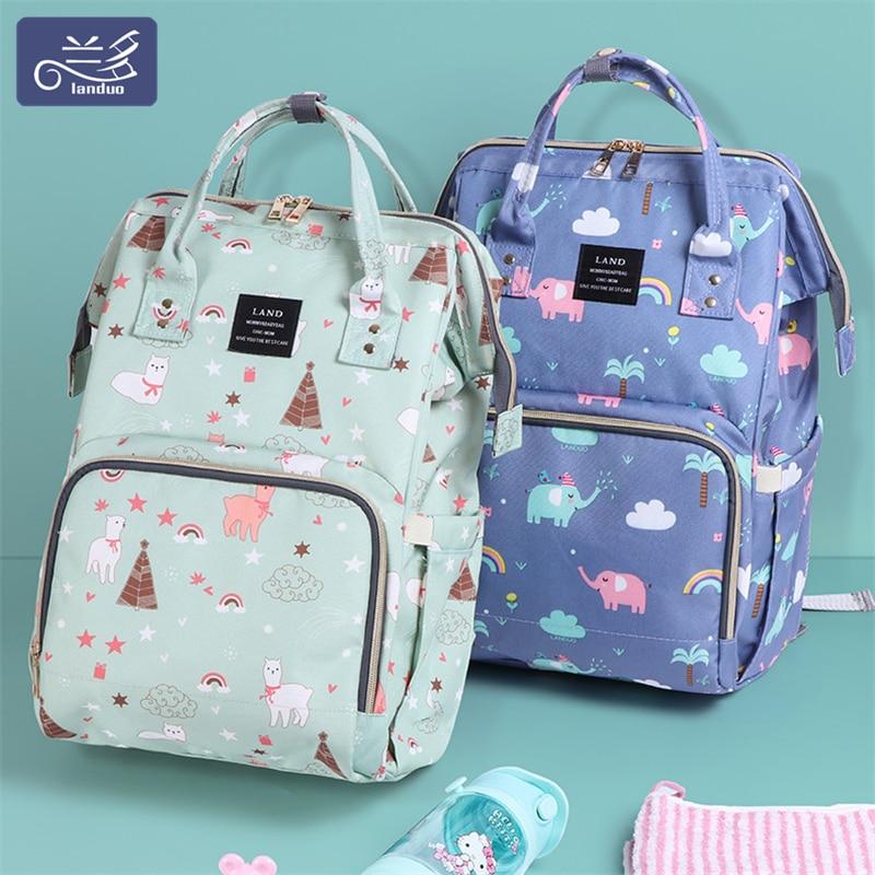 Land bolsas de pañales para la mamá mochilas para bebés nacidos elefante Animal impresiones mamá Anti-Pérdida mochila maternidad bolsa de lactancia MPB01
