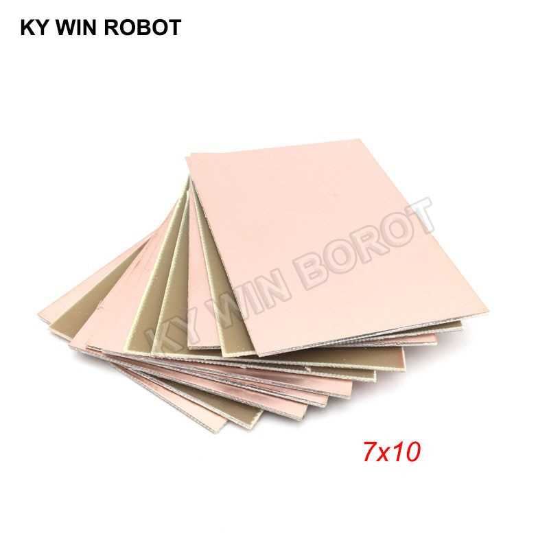 5 шт. FR4 PCB односторонняя медная плакированная пластина DIY PCB Kit ламинатная печатная плата 7x10 см
