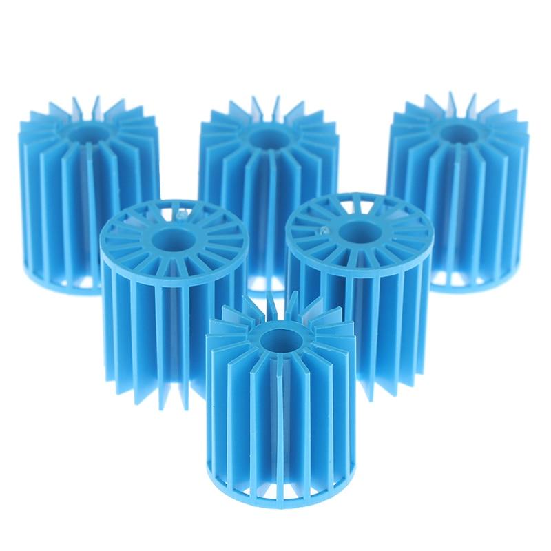 Meios de filtro azuis 15*16mm do pvc dos meios biológicos do filtro da lagoa do tanque de peixes do aquário das bolas de 100 pces bio