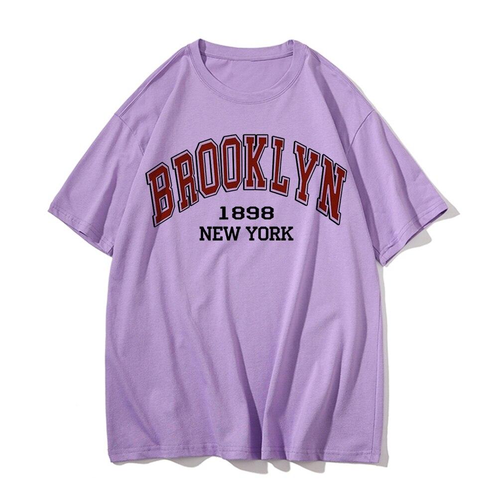 Camiseta de BROOKLYN de Nueva YORK para mujer, Top estampado Harajuku, ropa...