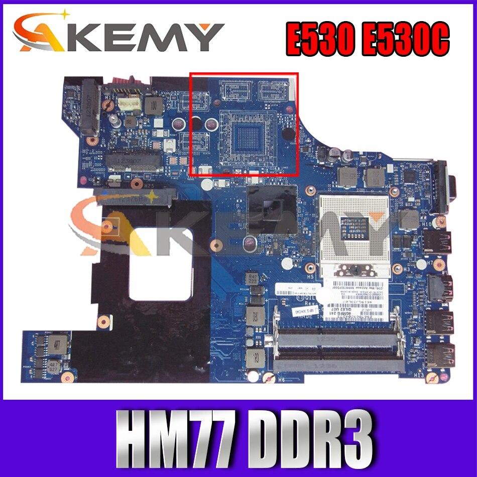 Akemy QILE2 LA-8133P لينوفو ثينك باد E530 E530C اللوحة المحمول FRU 04W4014 PGA989 HM77 DDR3 100% اختبار