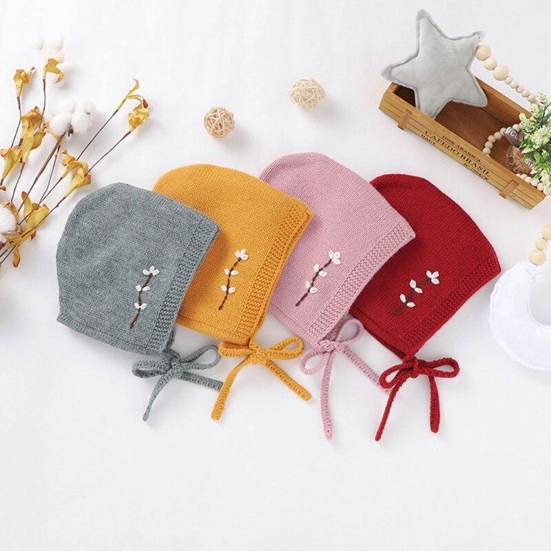KLV/Мягкая вязаная детская шляпка, связанная крючком вышитые детские шапка для мальчиков и девочек Кепки зимние теплые Младенец Малыш новоро...