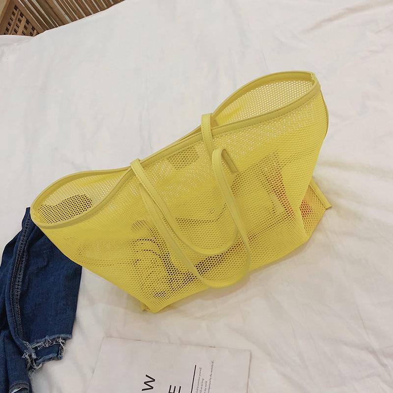 Bolsas de verão para mulheres, bolsas de praia grande, transparentes, para senhoras, de pvc, composto, para gelatina