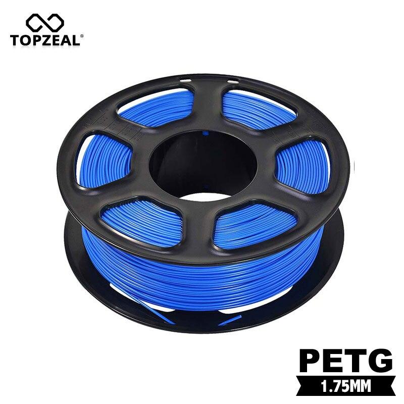 Filamento de Precisão Dimensional + – Topzeal Impressora Petg 1 kg Carretel Cor Azul 3d -0.02mm
