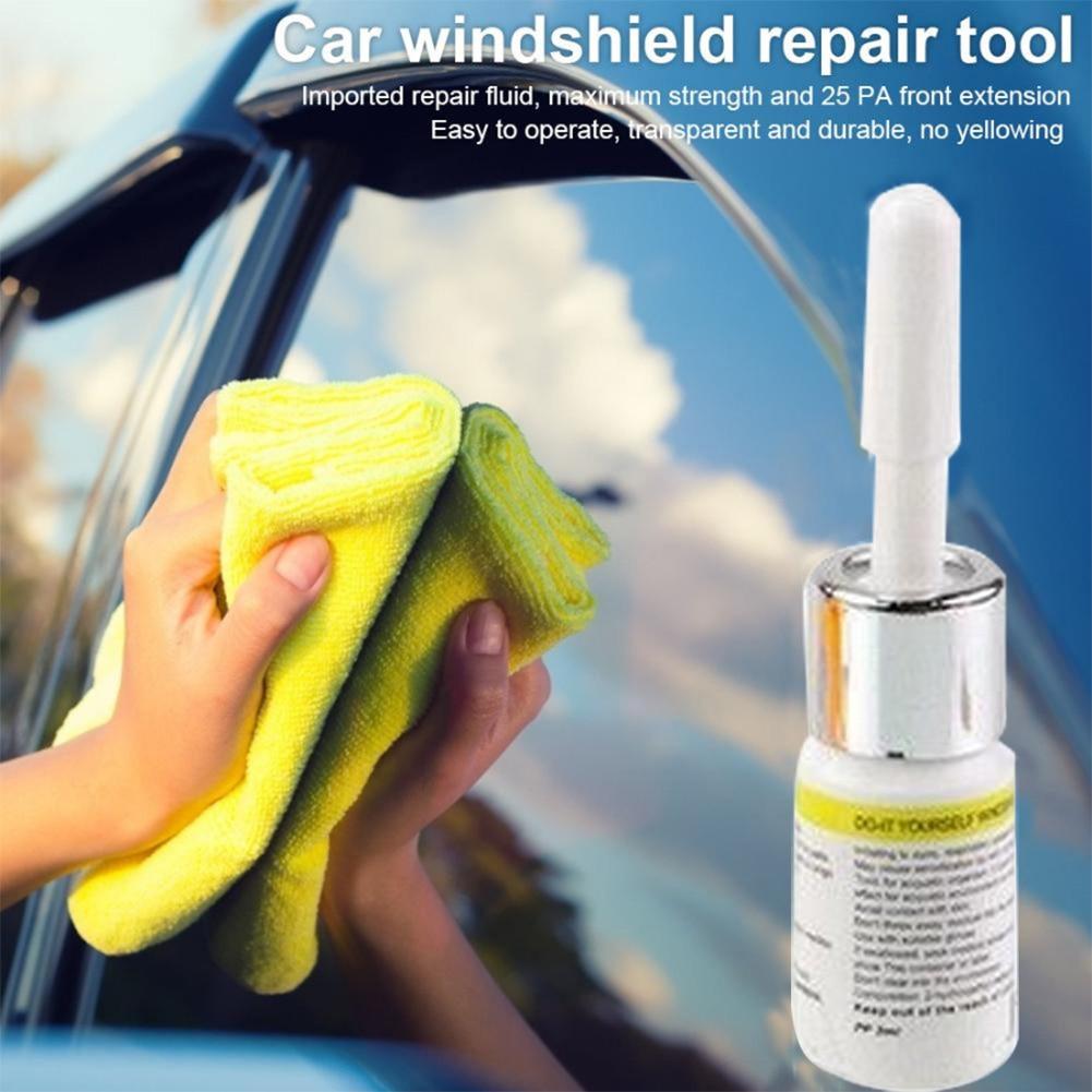 Kit de reparación de parabrisas Universal de mantenimiento DIY fácil de aplicar pegamento de vidrio de rasguño profesional de limpieza herramienta de restauración hoja de resina