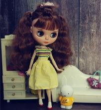 Blythy boneca sweetpie outfits boneca bonito bohemia roupas para blyth boneca topos crianças brinquedo 1/6 acessórios boneca bonito decorações licca vestido