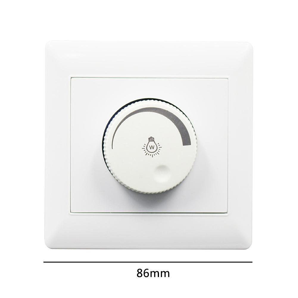 100W 220V interruptor de atenuación 86 tipo instalación oculta LED regulador de atenuación para foco de techo regulable