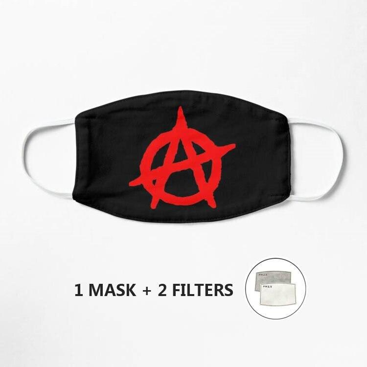 Máscara Anarchy para hombres y mujeres, para niños, 3d, divertida boca Mark...