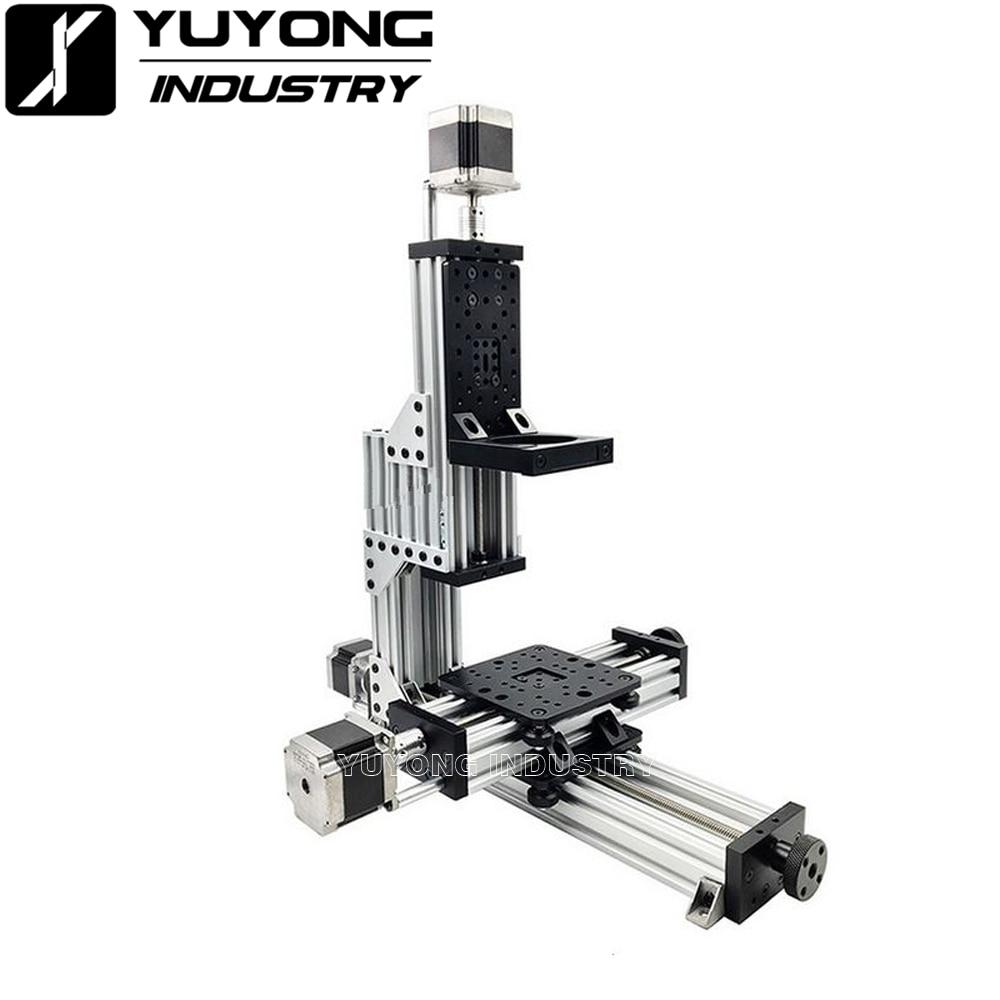 Kit mecánico minilab abierto, Mini fresadora CNC de escritorio de 3 ejes, Mini kit de fresadora CNC