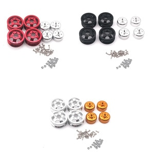 Upgrade Metal Wheel Rim Kit Wheel Hub for WPL B1 B-1 B14 B-14 B16 B-16 B24 B-24 C14 C-14 B36 with Screws RC Truck RC Car Parts