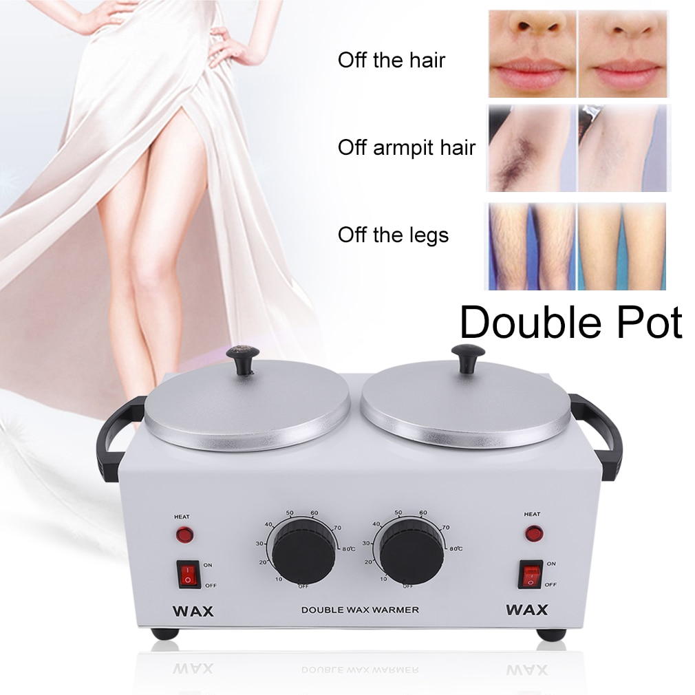 Double Pot Wax Heater Electric Hair Removal Tool Wax Machine Hands Feet Paraffin Wax Therapy Depilatory Salon Beauty Tool enlarge