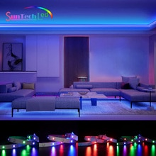Suntech LED Strip Light,SMD 2835 RGB Lighting Flexible Lamp Tape Diode For TV Bedroom Holiday Decora