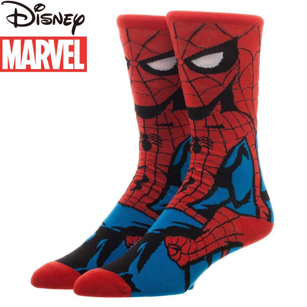 Marvel Spider-Man Avengers Socks CREW Deadpool Polyester Socks Iron Man Team USA Long men Socks