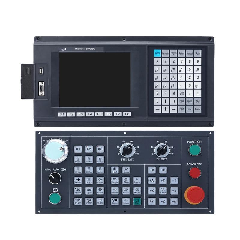 SZGH 2 محور مخرطة و Turnning CNC تحكم مع جديد الإنجليزية التحكم لوحة الذراع + DSP + FPGA usb cnc كاملة كيت